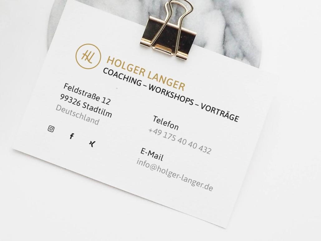 Visitenkarte von Holger Langer
